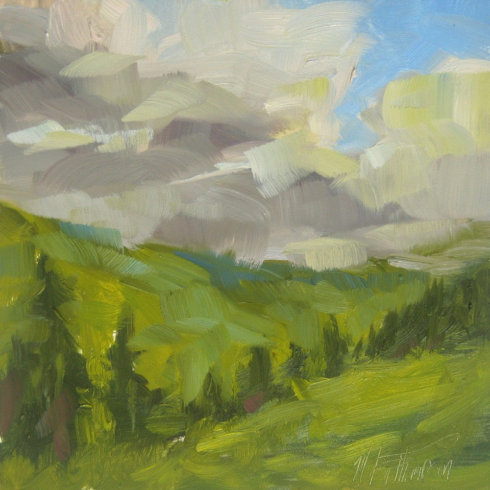 """Chinook Pass View - Washington Landscape painting"" original fine art by Melanie Thompson"