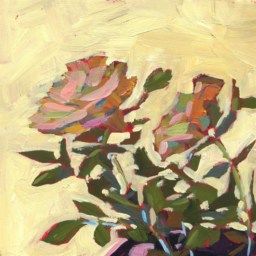 """0493: Double Down on the Roses"" original fine art by Brian Miller"