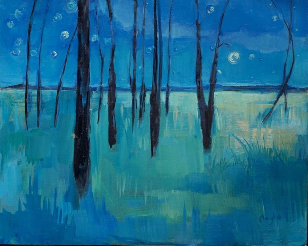 """Night"" original fine art by Angela Ooghe"