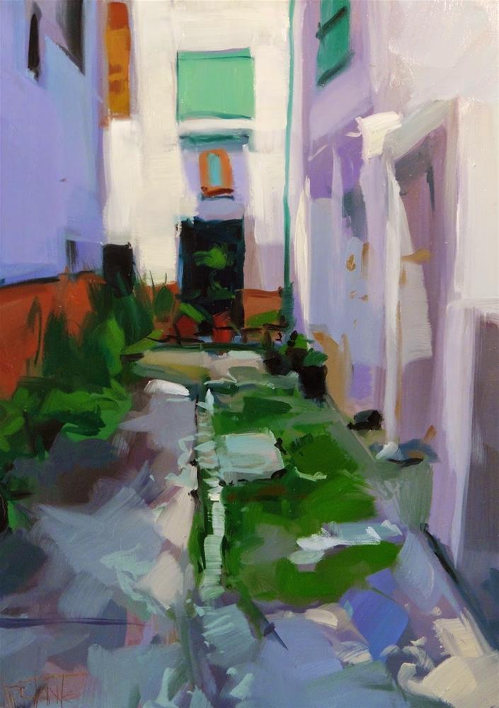 """Lanjaron (Quick study #1)"" original fine art by Víctor Tristante"