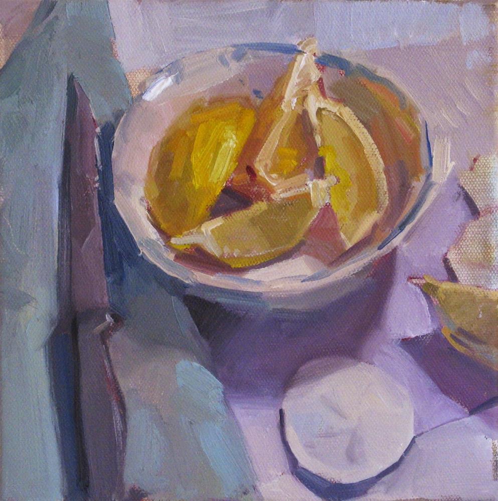 """Lemon Wedges - A one dollar auction!"" original fine art by Sarah Sedwick"