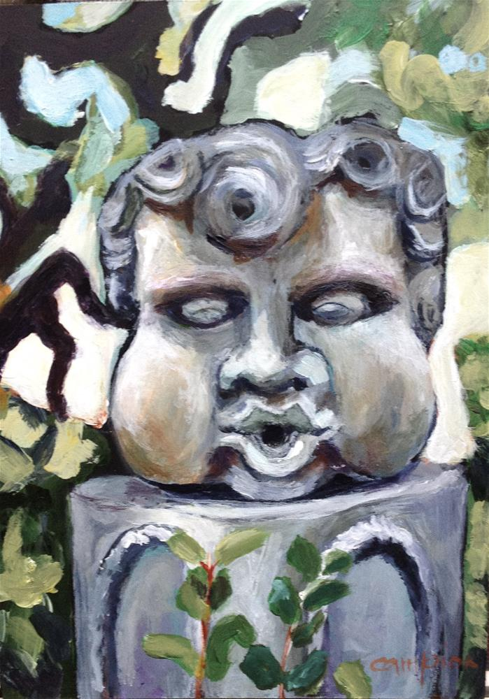 """Make a Wish,  a Painting of a Sculpture"" original fine art by Diane Campion"
