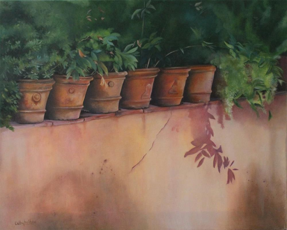 """Terracotta Pots"" original fine art by Cathy Holtom"