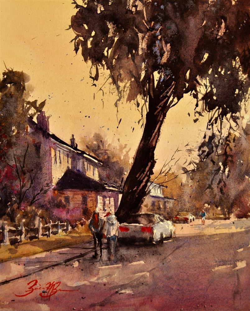 """Under the Old Oak"" original fine art by Brienne M Brown"