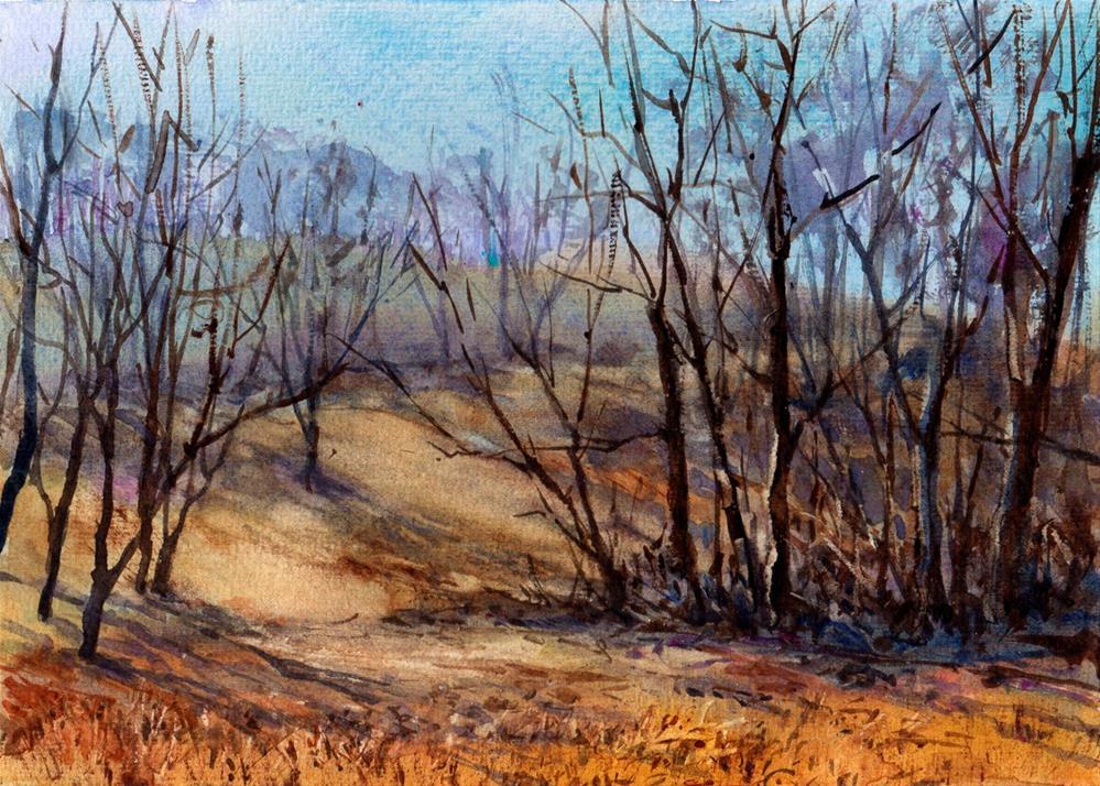 """Waiting for Spring"" original fine art by Linda Henry"