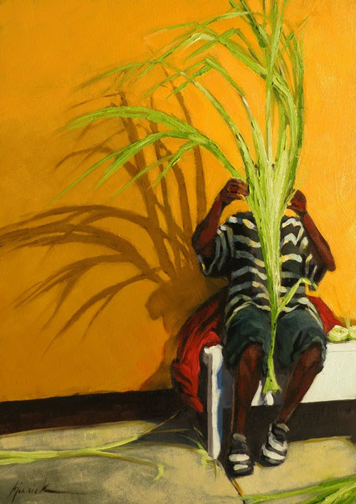 """The Shy One"" original fine art by Karin Jurick"