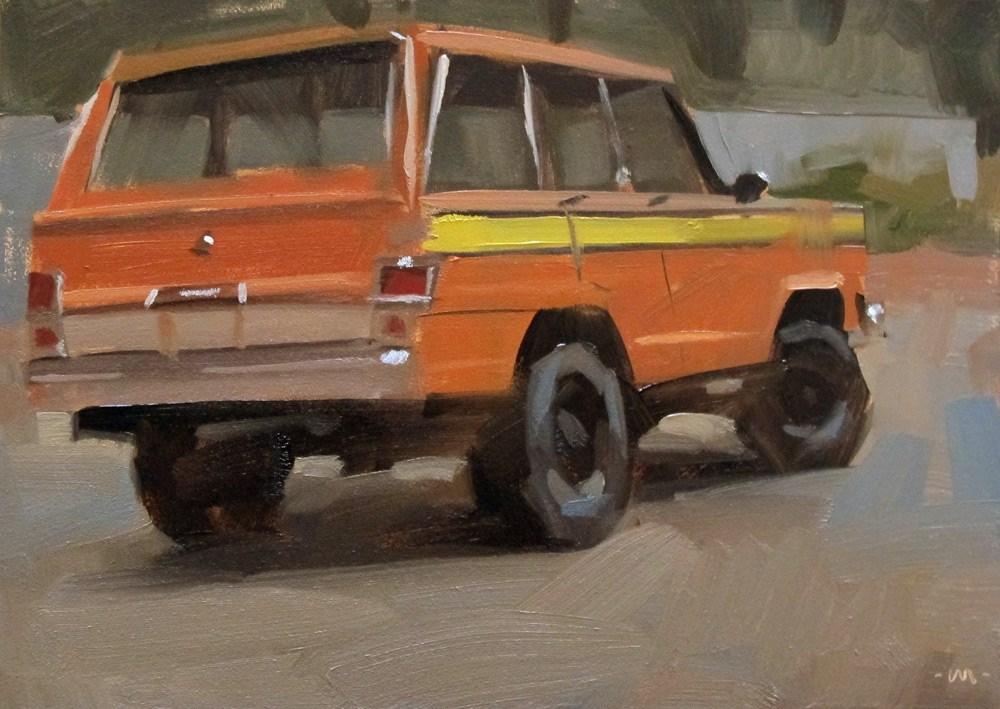 """""""Striped Wagoneer"""" original fine art by Carol Marine"""