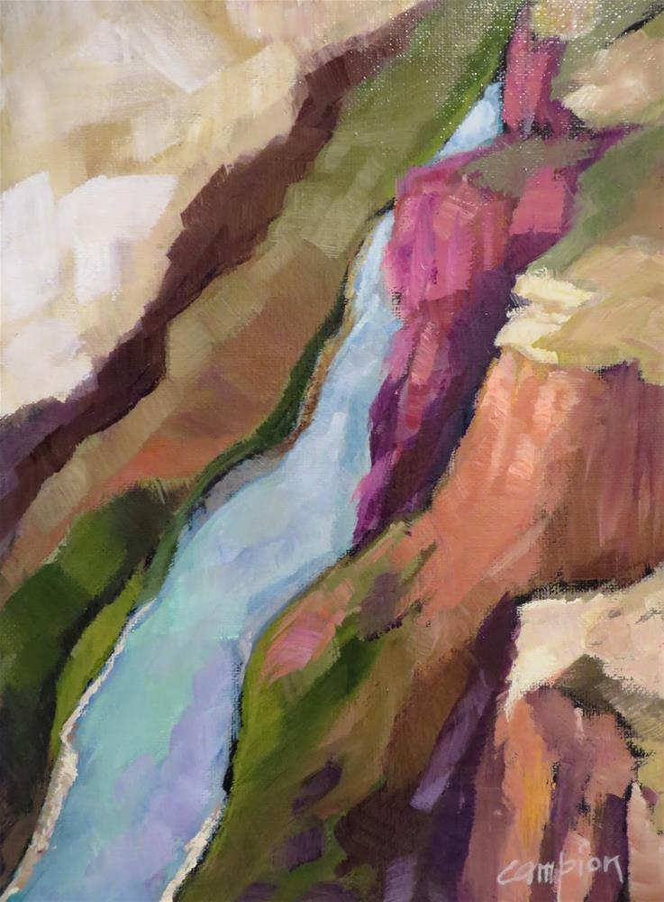 """704 View From the Rio Grande River Gorge Bridge"" original fine art by Diane Campion"