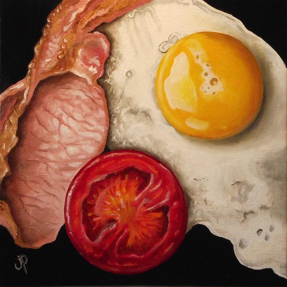 """""""Breakfast!"""" original fine art by Jane Palmer"""