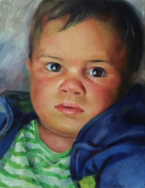 """A boy"" original fine art by Joy Cai"