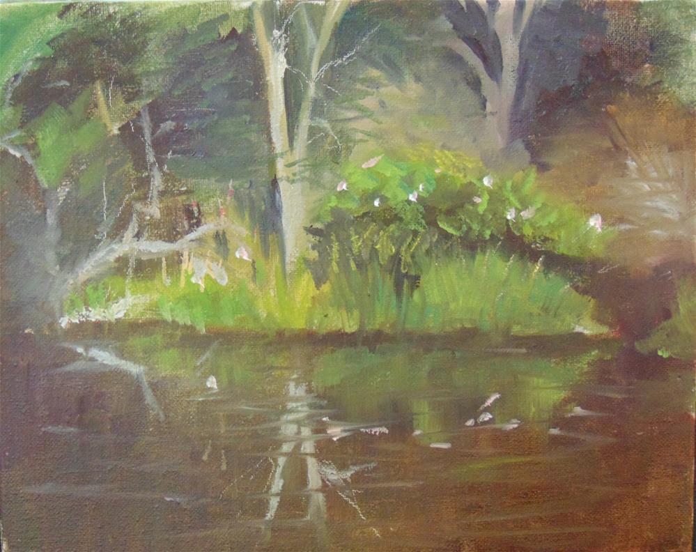 """Dark Waters on Betts Mill Creek"" original fine art by Catherine Kauffman"