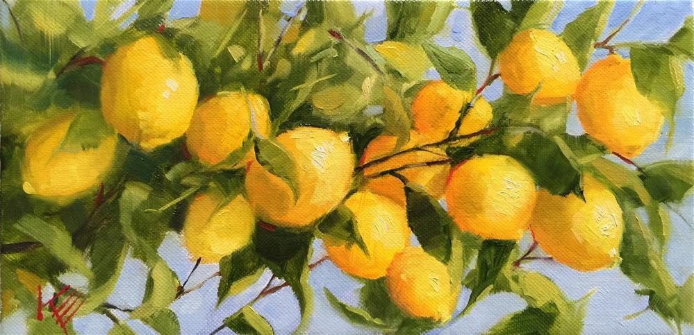 """""""Lemon Tree II"""" original fine art by Krista Eaton"""