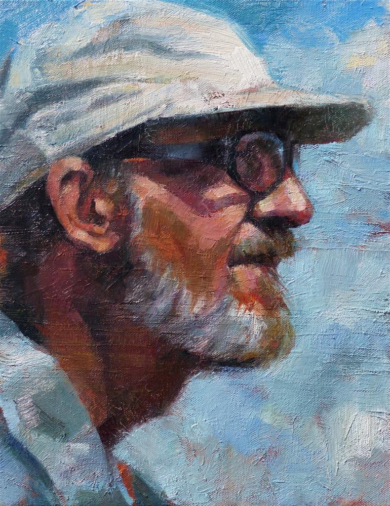 """Portrait of a Painter"" original fine art by Katya Minkina"
