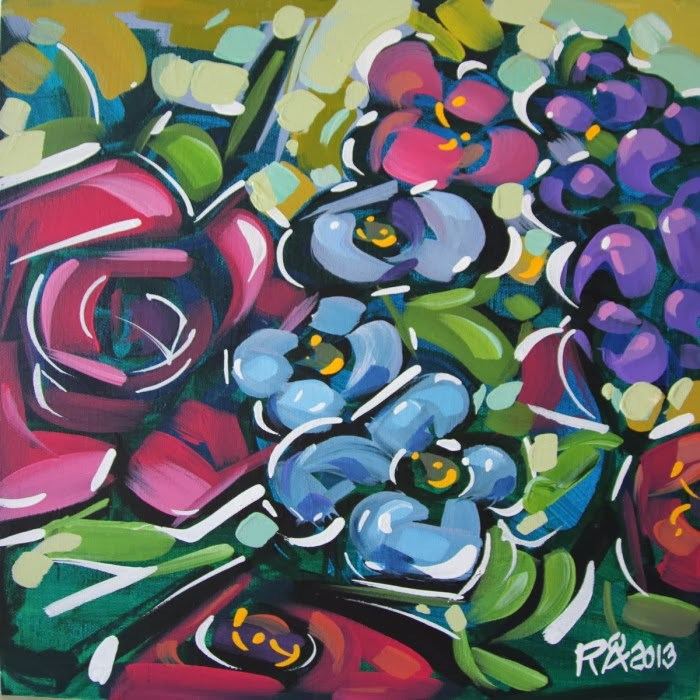 """""""Flower Abstraction 57"""" original fine art by Roger Akesson"""