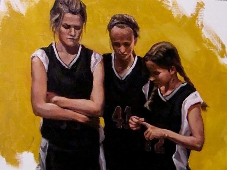 """""""Huddle Study"""" original fine art by Edward Watson"""