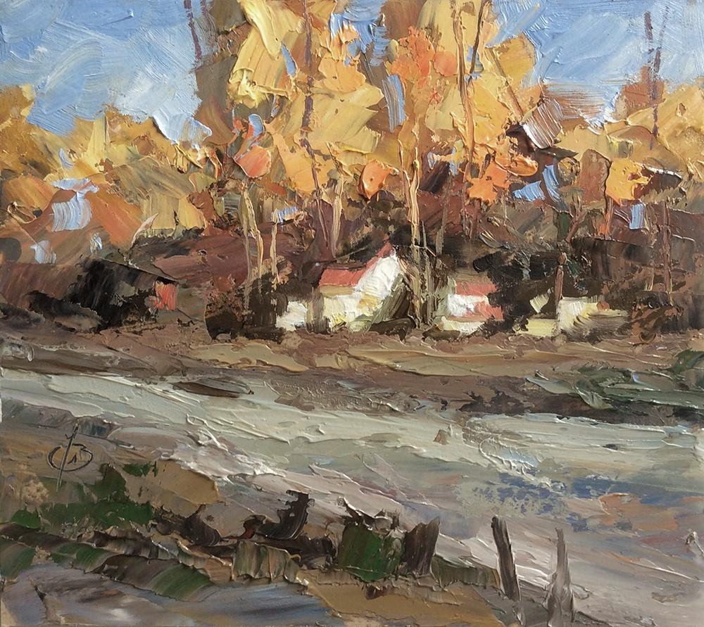 """FALL COLORS"" original fine art by Tom Brown"