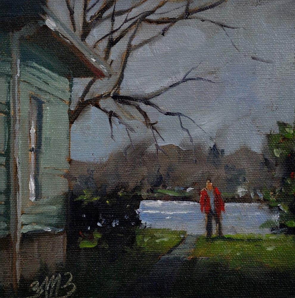 """""""Fresh Lake Air"""" original fine art by Brienne M Brown"""