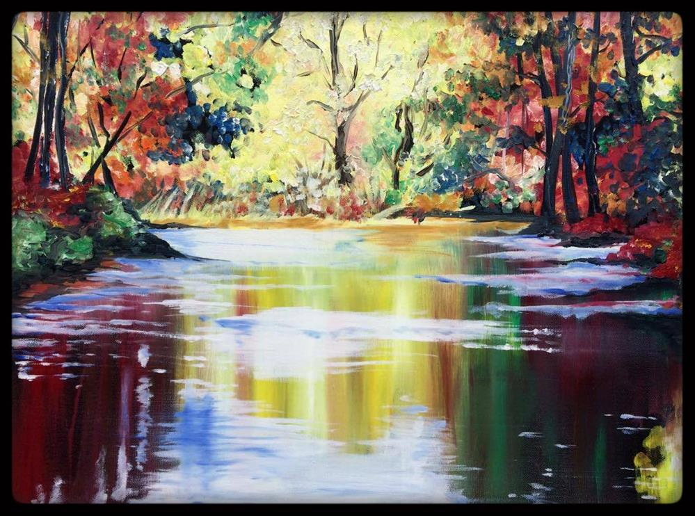 """""""On the Banks of Autumn"""" original fine art by Kristin Rose"""