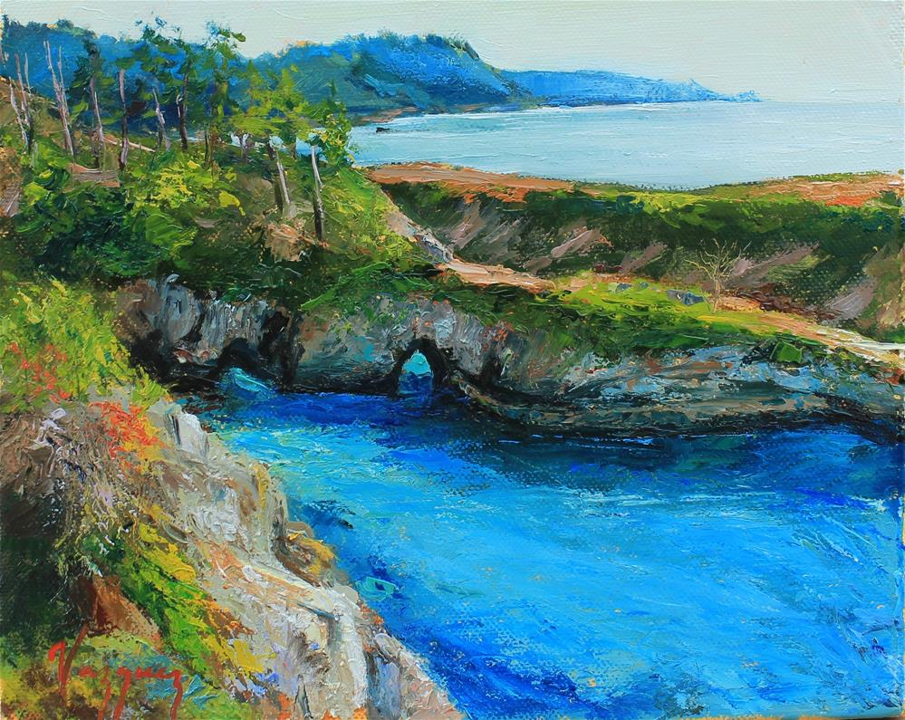 """""""Turquoise waters in point lobos"""" original fine art by Marco Vazquez"""