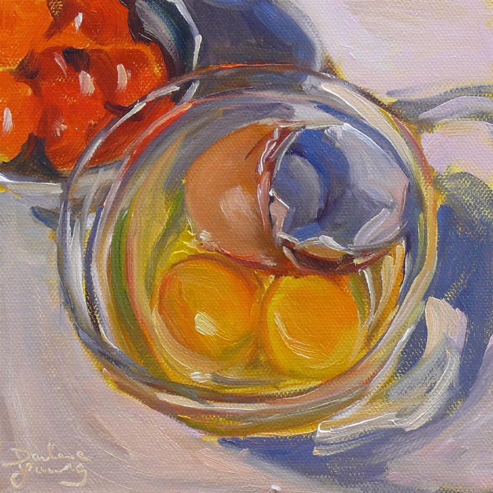 """607 Eggs and cherry Tomatoes"" original fine art by Darlene Young"