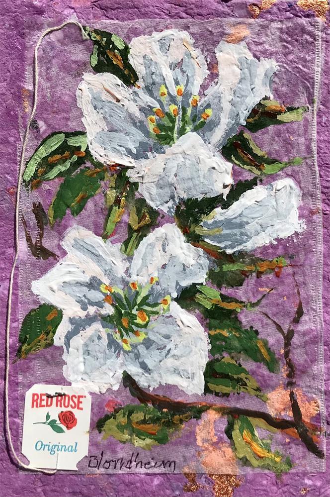 """""""White Azaleas"""" original fine art by Linda Blondheim"""