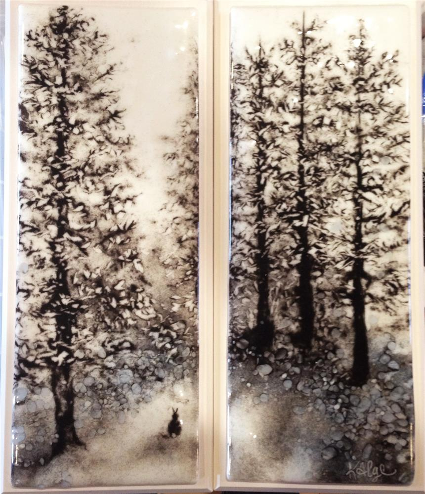 """""""In the White Pine Forest"""" original fine art by Kelly Alge"""