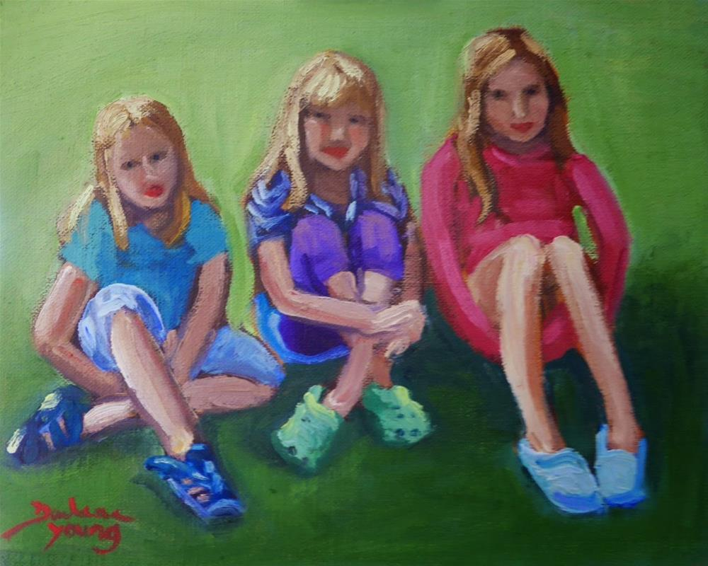 """""""759 Friends and Sisters"""" original fine art by Darlene Young"""