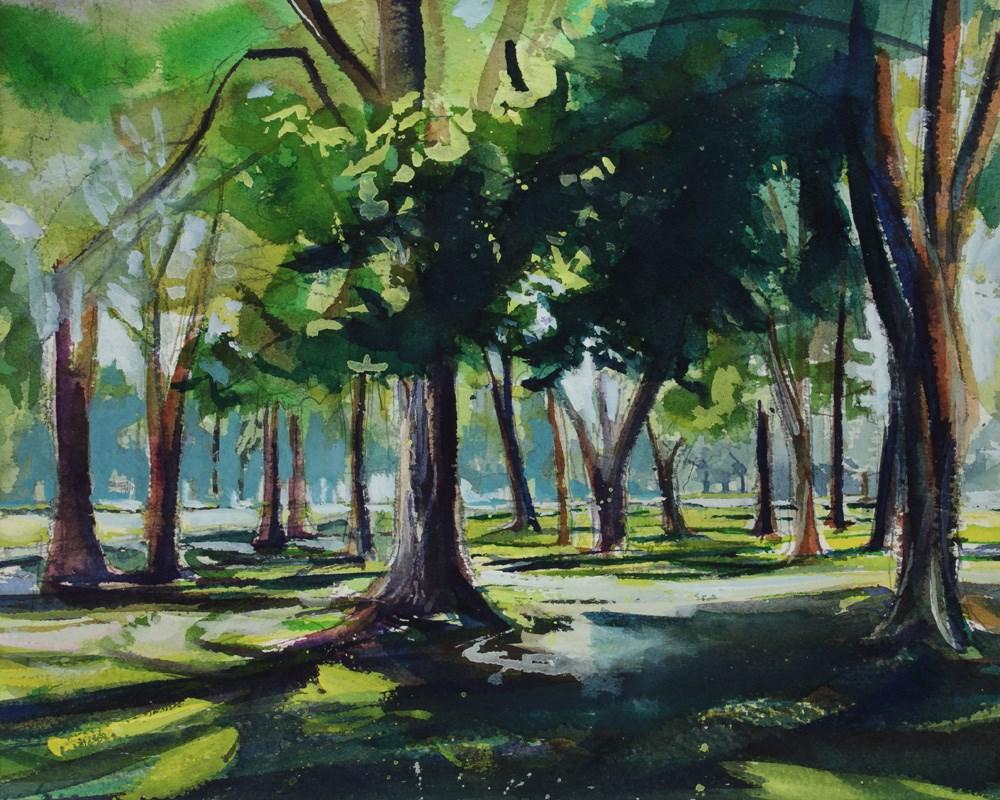 """""""Krull Park"""" original fine art by Chris Breier"""