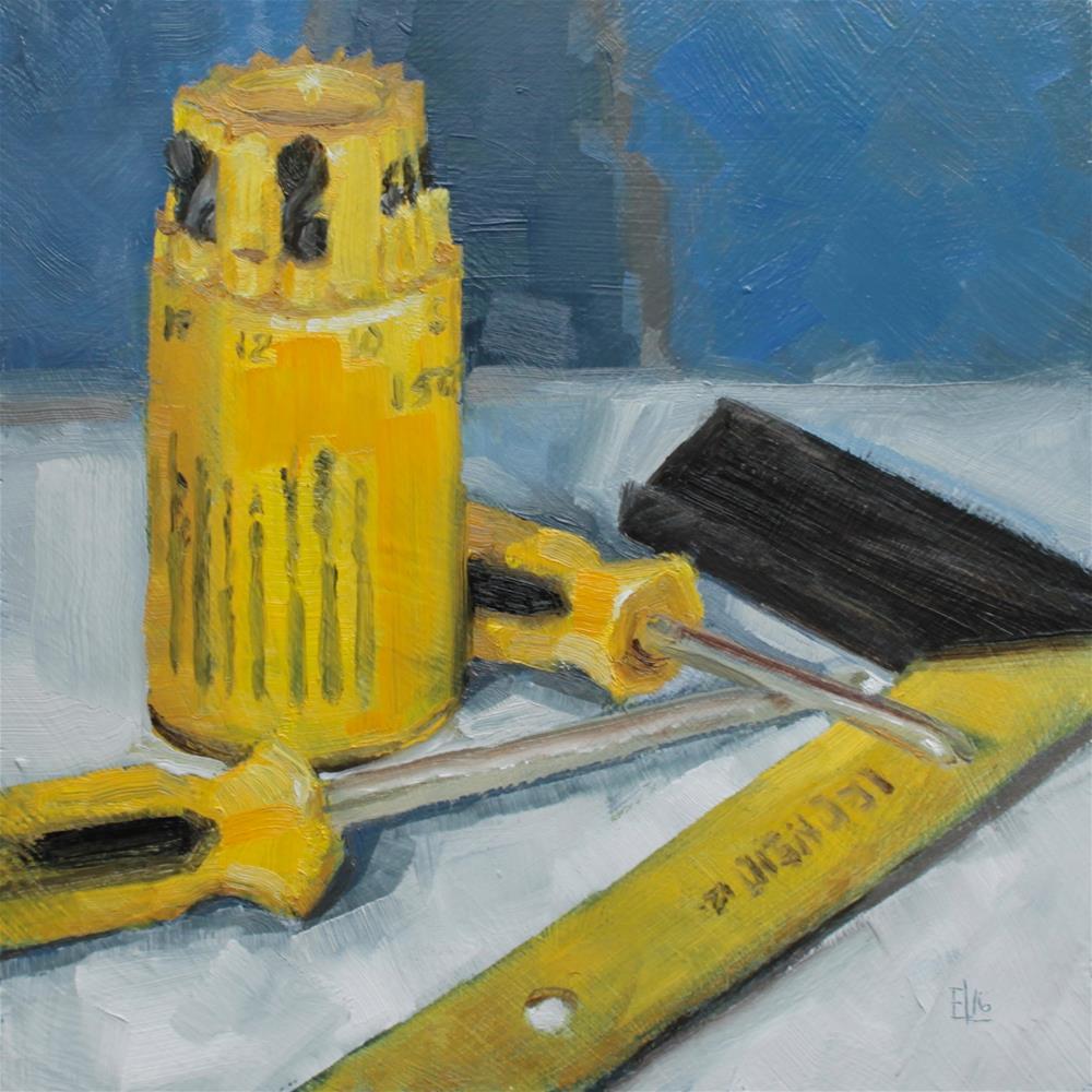 """Handy Tools Challenge"" original fine art by Emilia Leinonen"