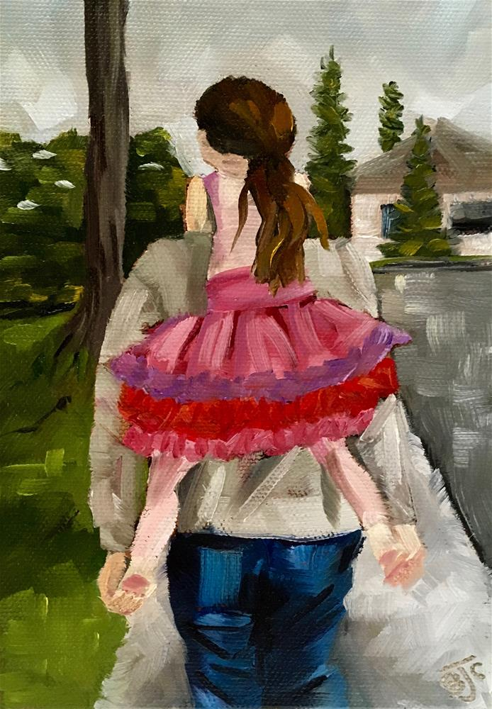 """Papa's Girl"" original fine art by Bobbie Cook"