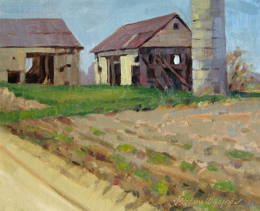 """The Last Two Barns"" original fine art by Jill Stefani Wagner"