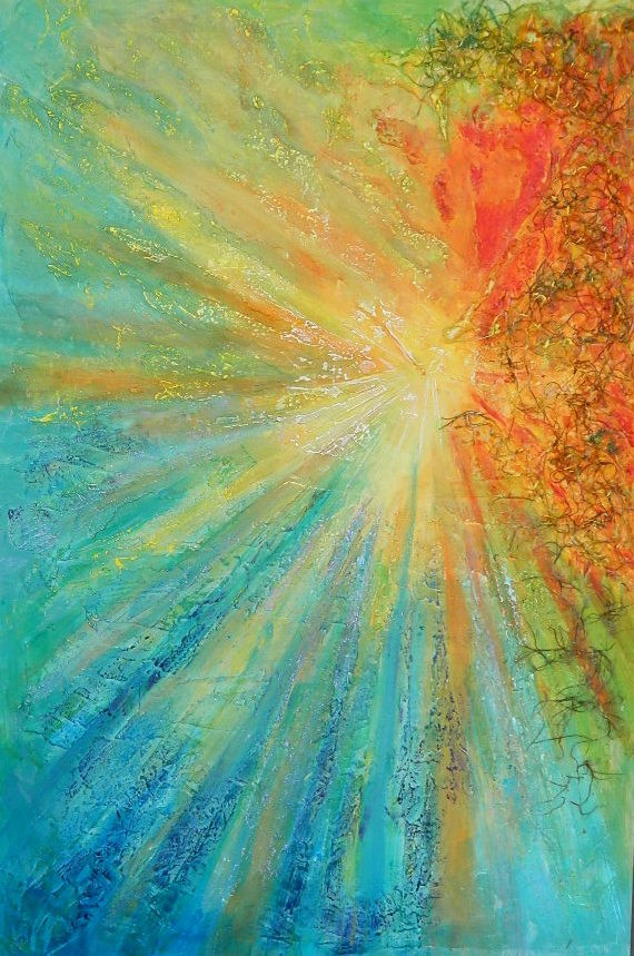 """Burst"" original fine art by Gloria Urban"