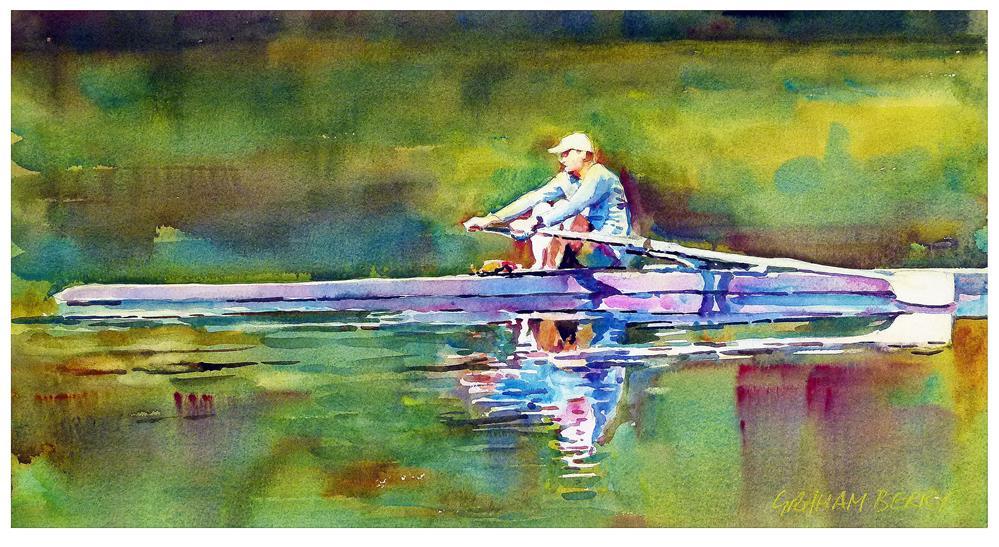 """Rowing"" original fine art by Graham Berry"