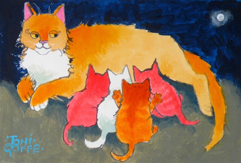 """""""Feeding Time"""" original fine art by Toni Goffe"""