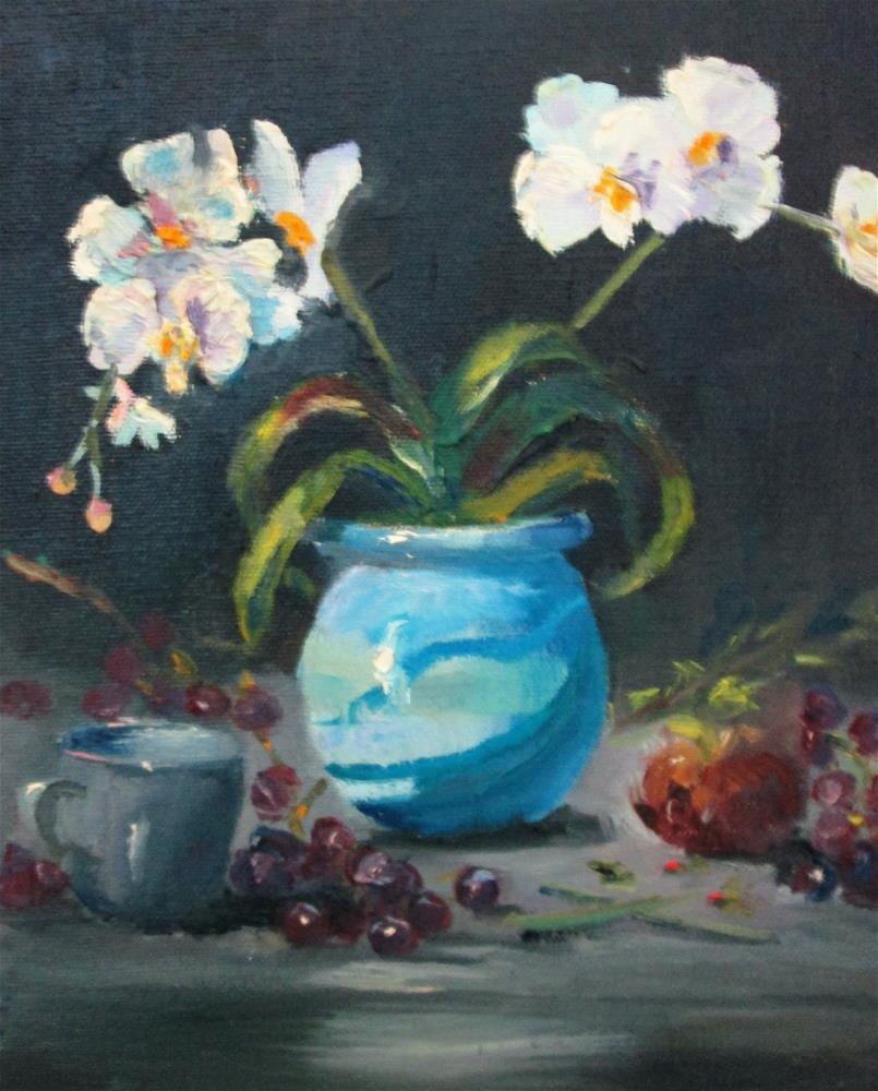 """Orchids"" original fine art by Delilah Smith"