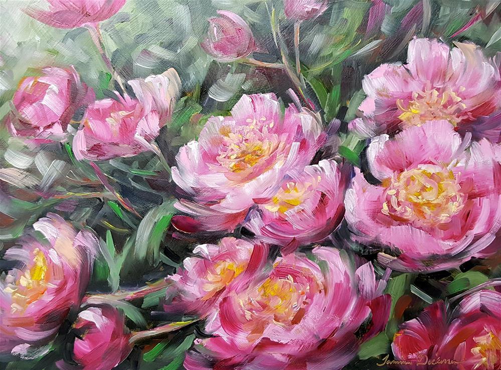 """Passionate Peonies"" original fine art by Tammie Dickerson"