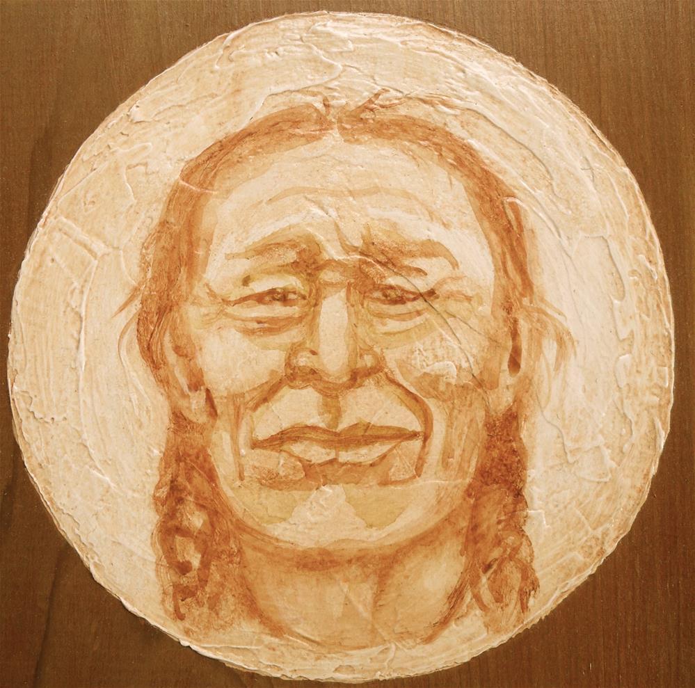"""Chief Iron Tail"" original fine art by Karen Roncari"