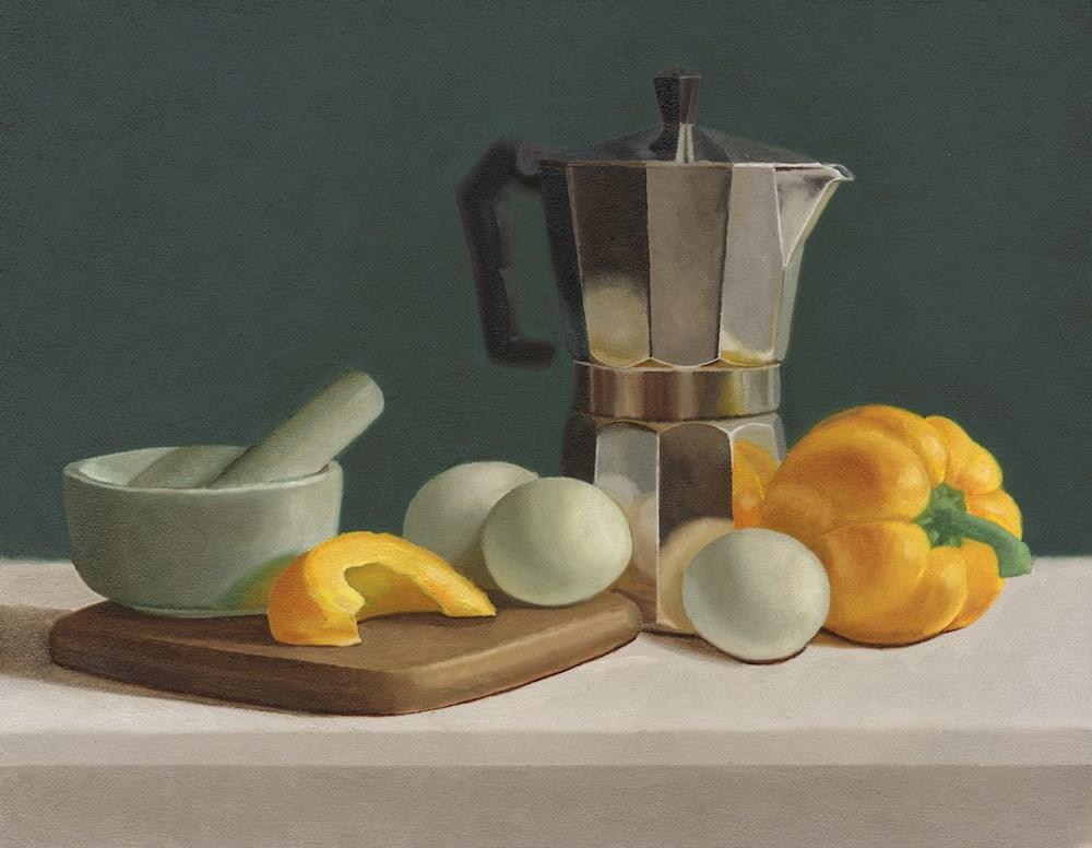 """""""Still Life with Yellow Bell Pepper"""" original fine art by Susan Fern"""