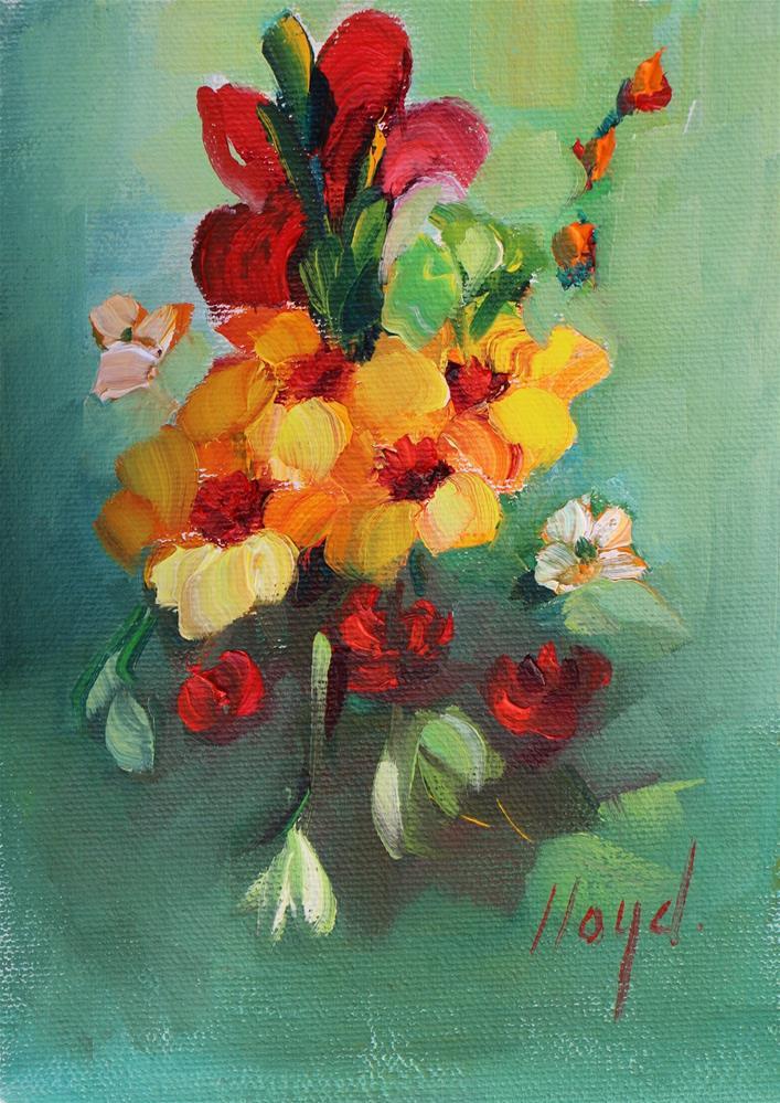 """""""Spring Warmth"""" original fine art by Diane Lloyd"""