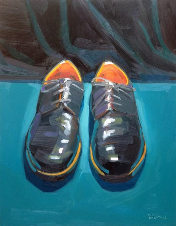 """Dress Shoes"" original fine art by Robin Rosenthal"