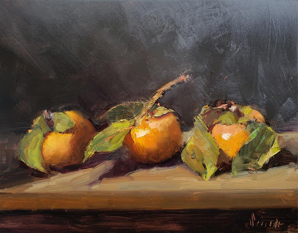 """""""Still Life With Persimmons"""" original fine art by Barbie Smith"""