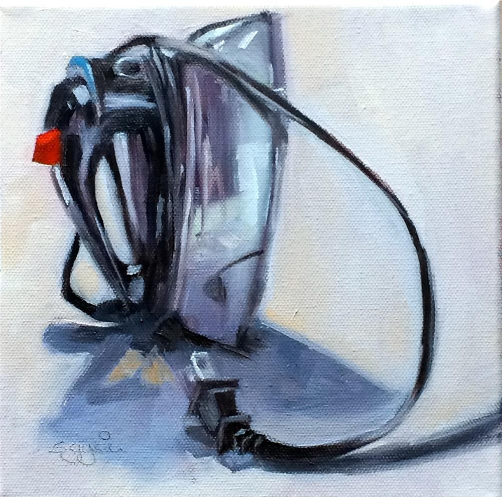 """""""I - is for Iron and its Cord"""" original fine art by Suzanne Gysin"""