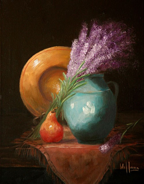 """Fresh Lavender"" original fine art by Sunny Williams"