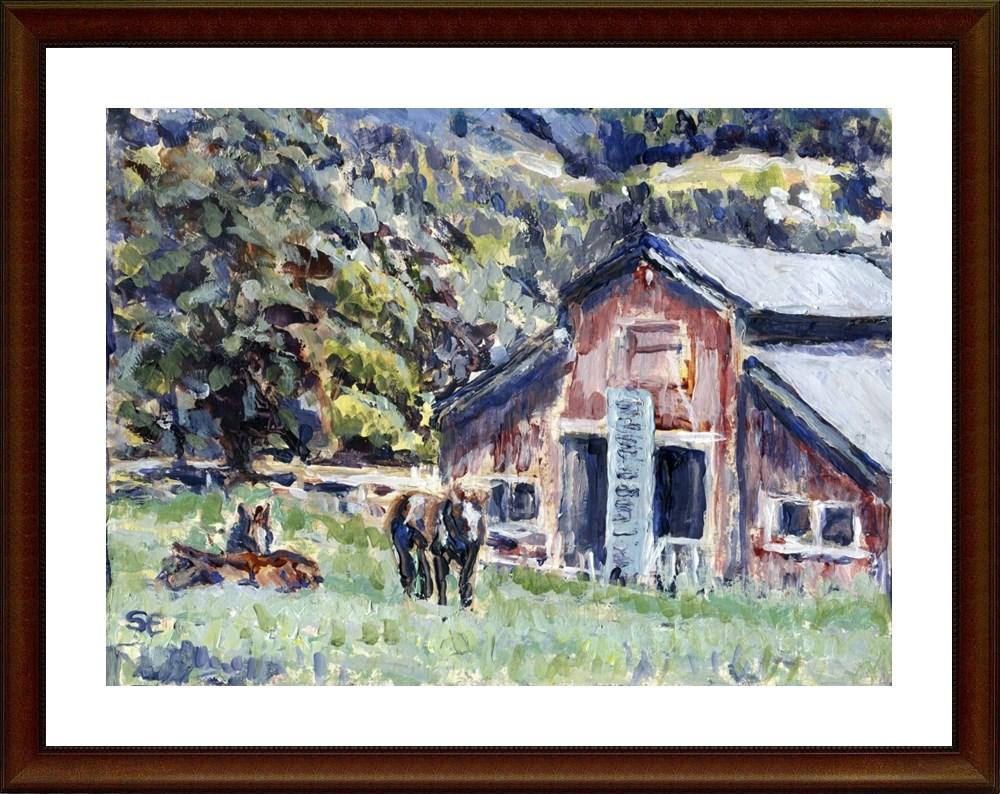 """Catfish Farm"" original fine art by Stanley Epperson"
