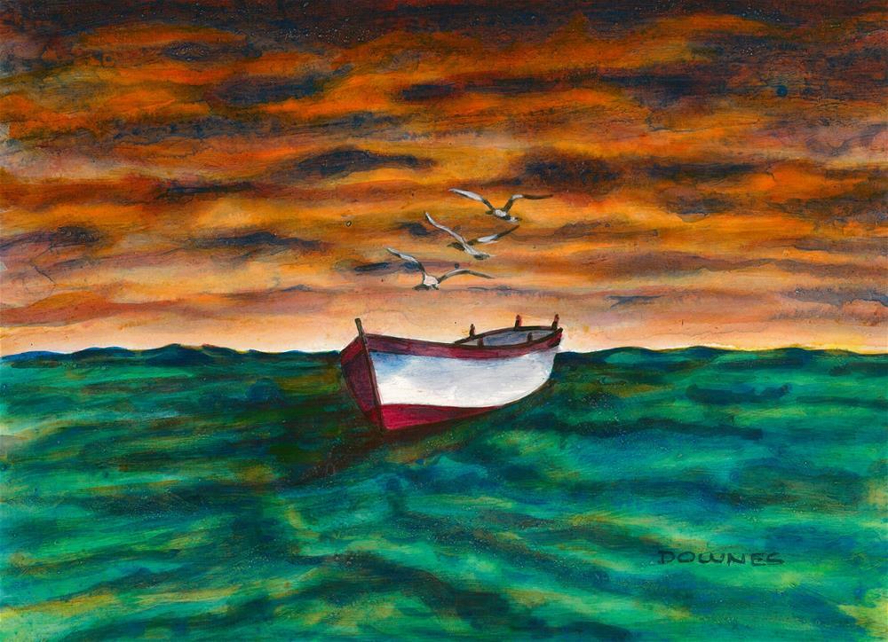 """""""303 EN MEZZO AL MARE 2"""" original fine art by Trevor Downes"""