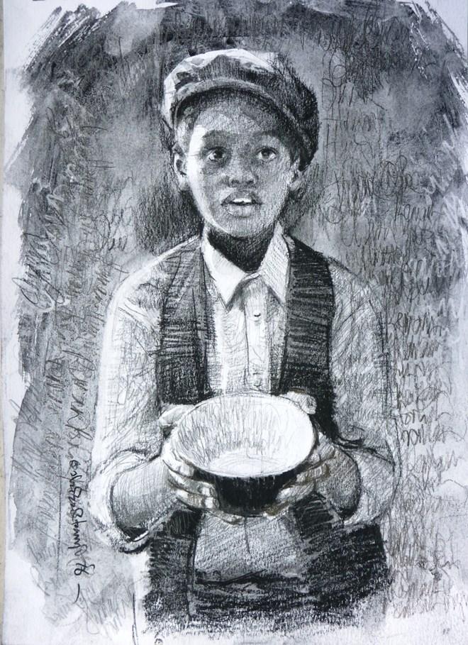 """Remain Hungry"" original fine art by Adebanji Alade"