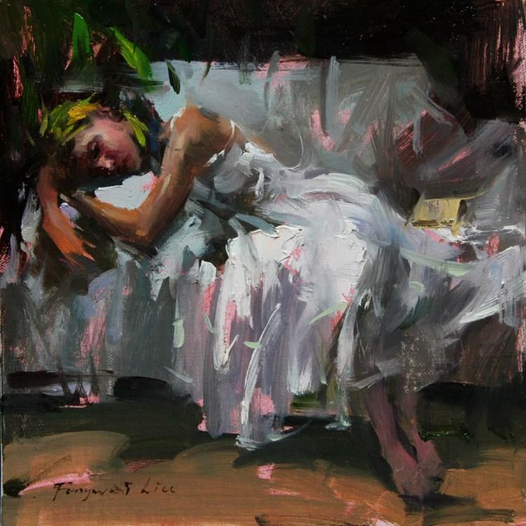 """Small study 002 - 2012"" original fine art by Fongwei Liu"