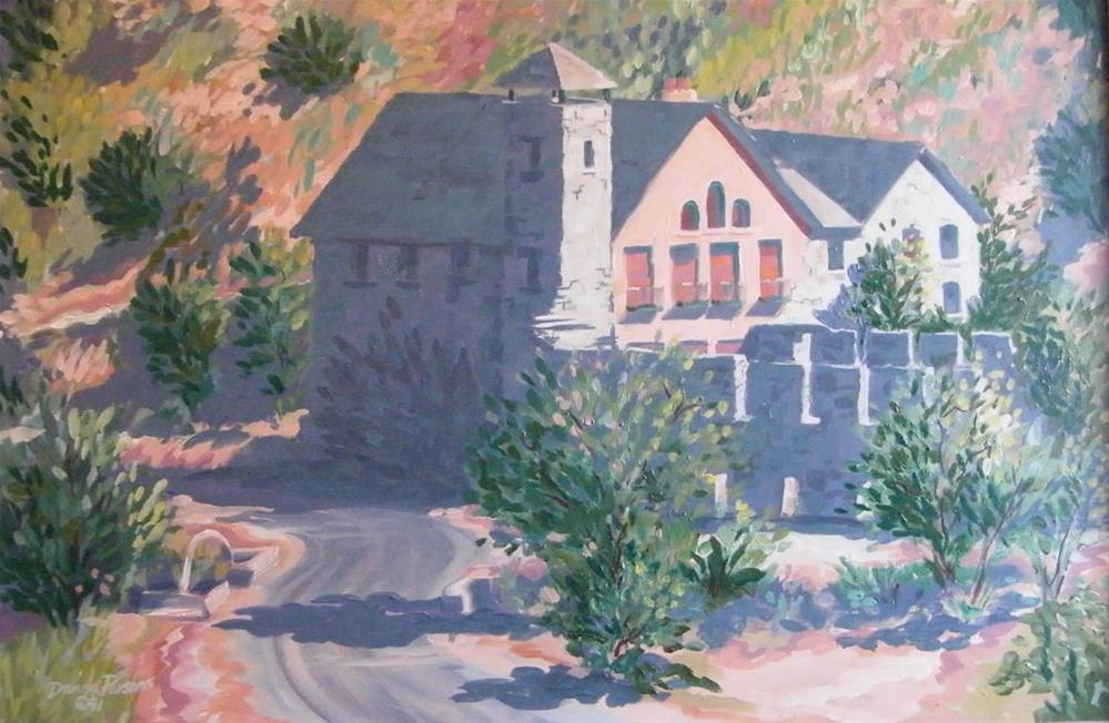 """""""The Old Mill"""" original fine art by Donna Whatcott Parsons"""