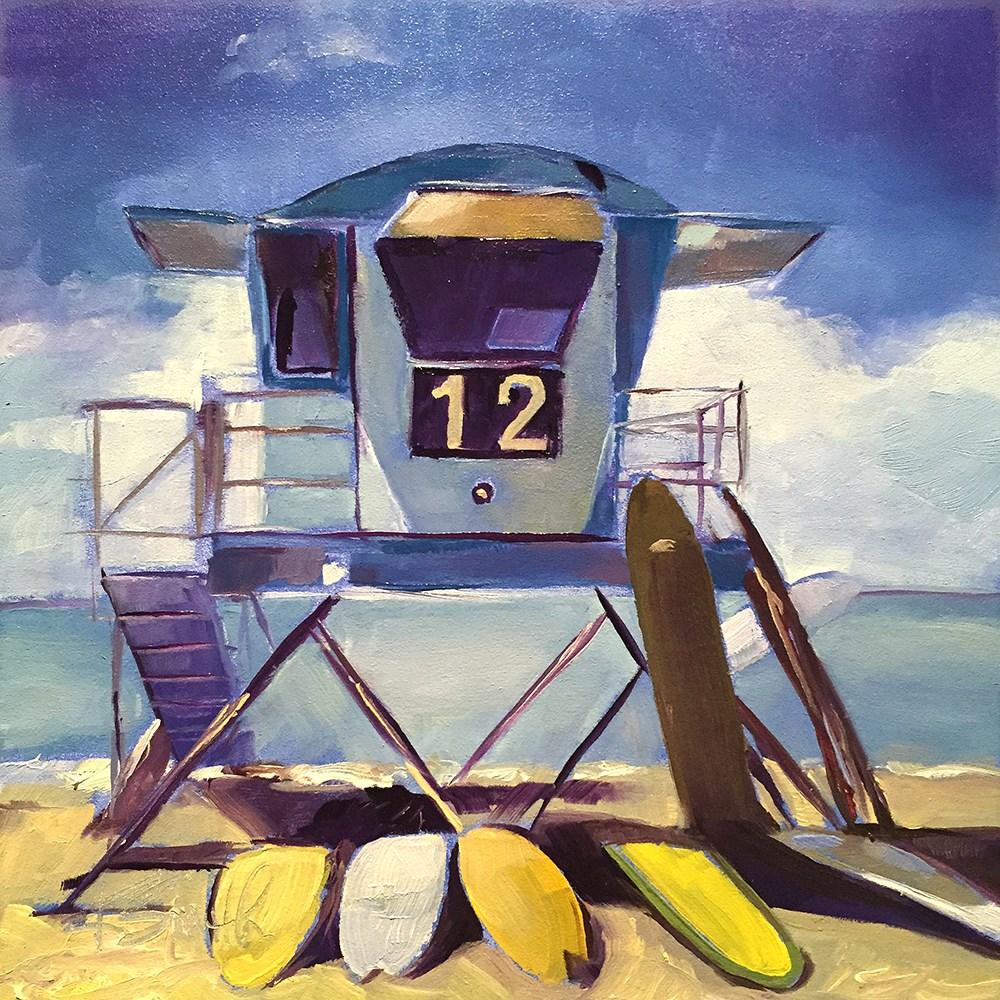 """""""longboards"""" original fine art by Kim Smith"""