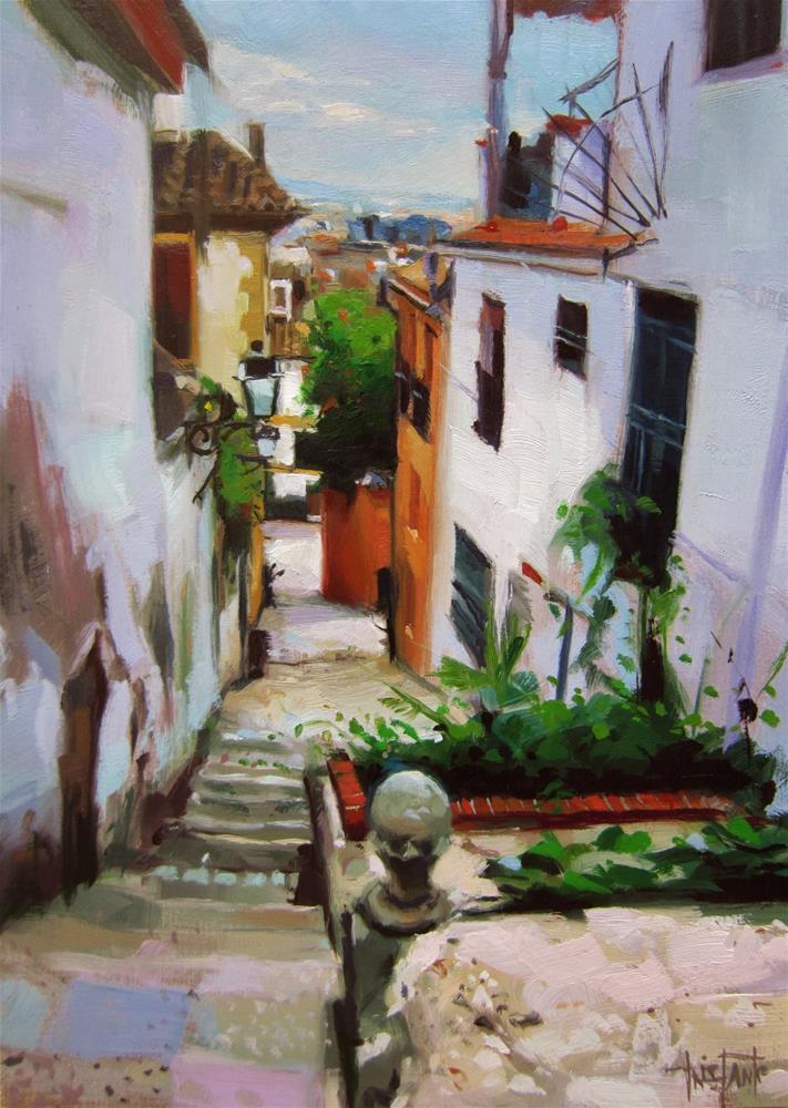 """""""Cuesta del Realejo"""" original fine art by Víctor Tristante"""